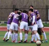 4月9日淮安市足球甲级联赛第五轮比赛:起航