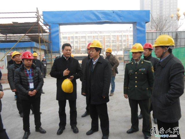 区领导检查金地建筑工地施工安全工作